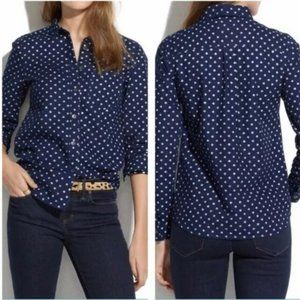 Madewell Dotted Blue Chambray Shirt Small